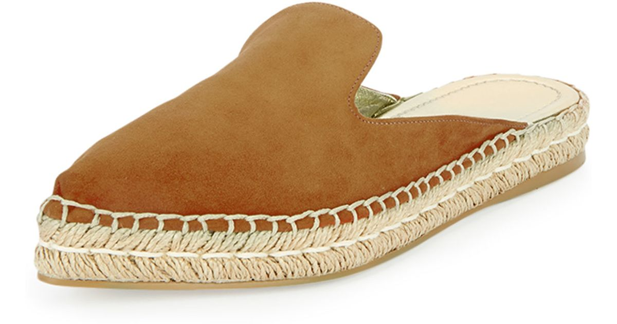 professional design wide range amazing selection Prada Brown Suede Espadrille Mule Flat