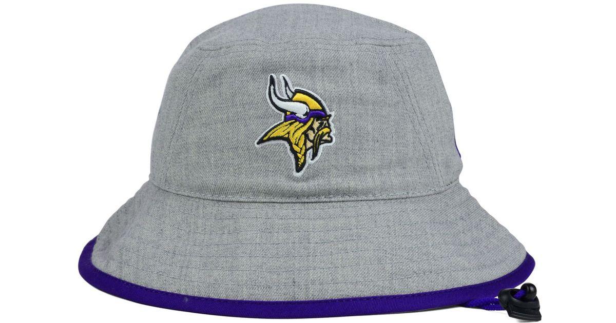 Lyst - KTZ Minnesota Vikings Nfl Heather Gray Bucket Hat in Gray fec549e9bf5