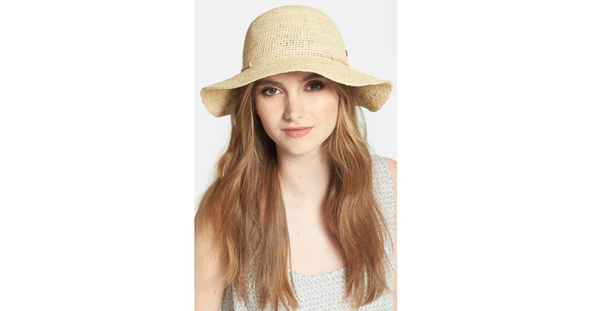 Lyst - Helen Kaminski  caicos  Raffia Hat in Natural 1adbc1b6becd