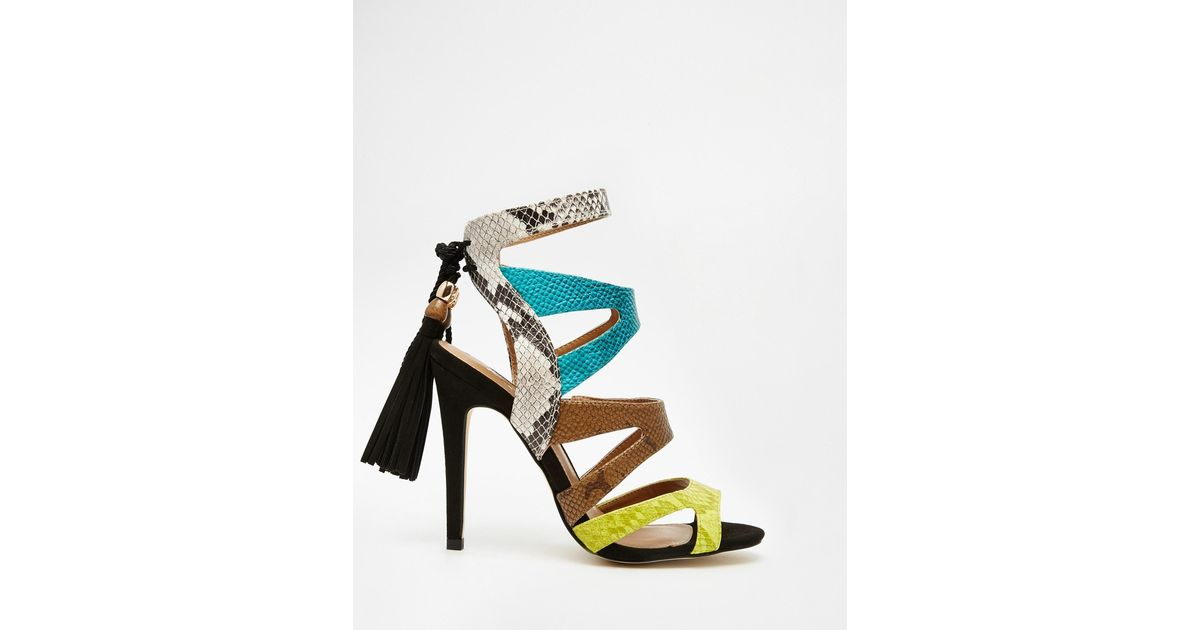 Miss kg Forest Multi Colored Strappy Sandals | Lyst