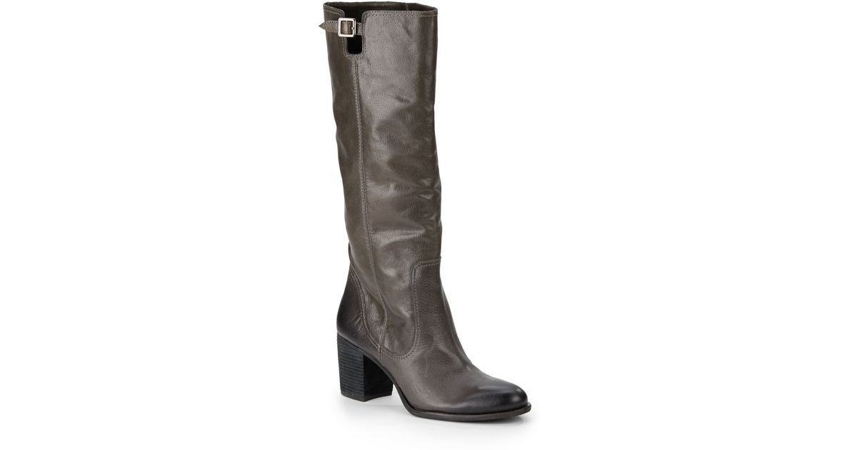 b282d7da03a Lyst - Vince Camuto Gettila Leather Tall Boots in Gray