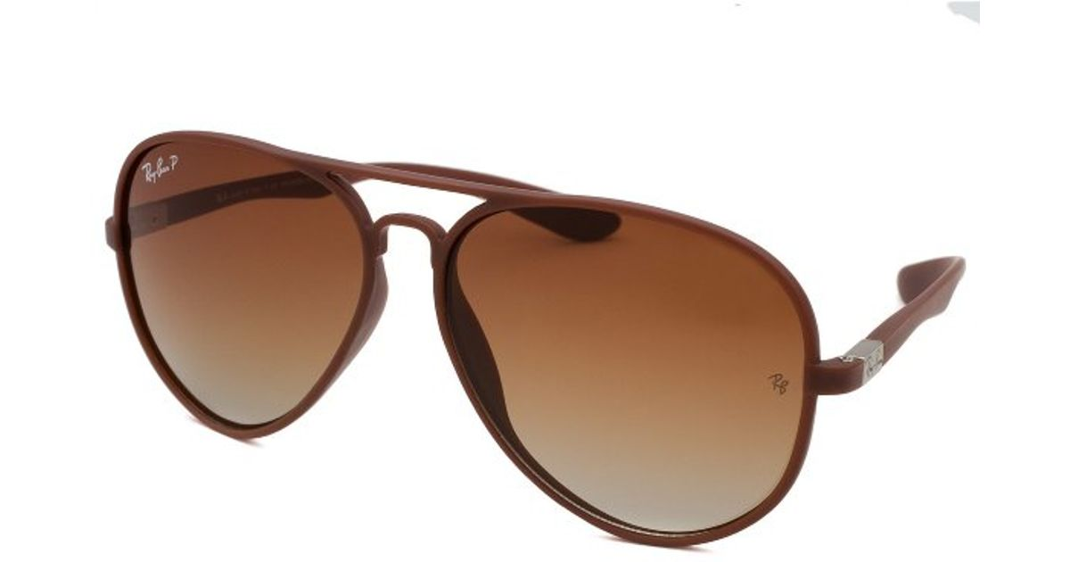 4bbe9c5982 Ray-Ban Men s Liteforce Aviator Brown Sunglasses in Brown for Men - Lyst