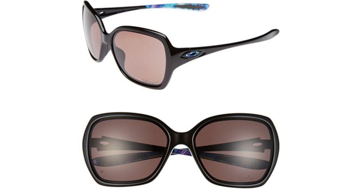 8aaddd6739d Lyst - Oakley  overtime - Karena  59mm Polarized Sunglasses in Black
