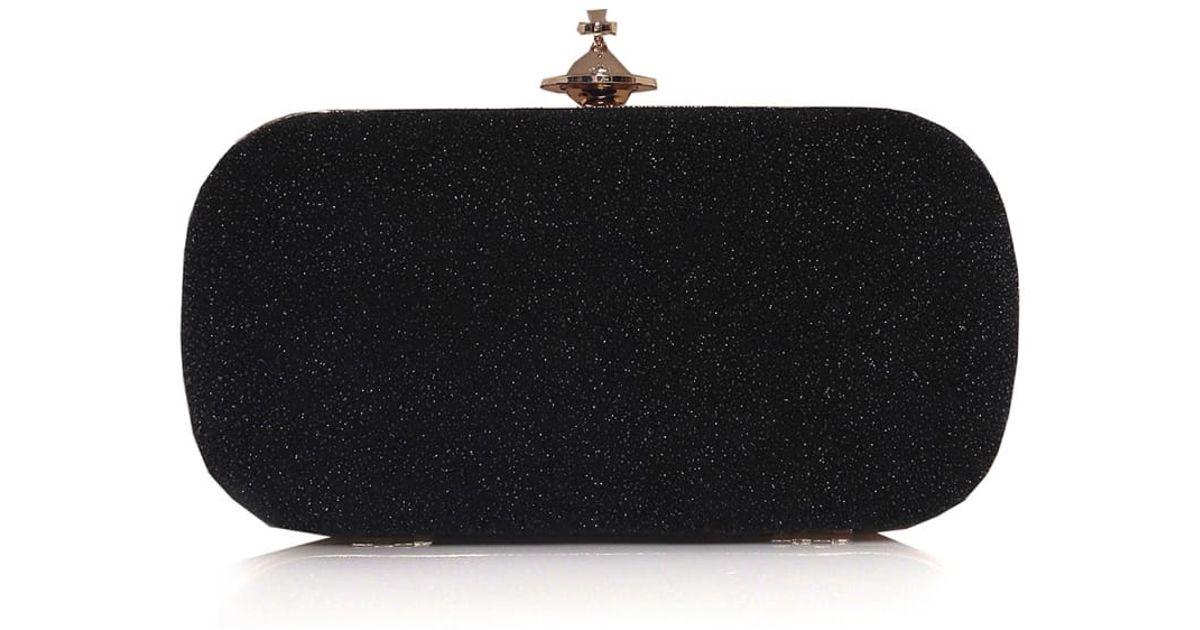 1b01a7745fd43 Lyst - Vivienne Westwood Angel Clutch Bag in Black