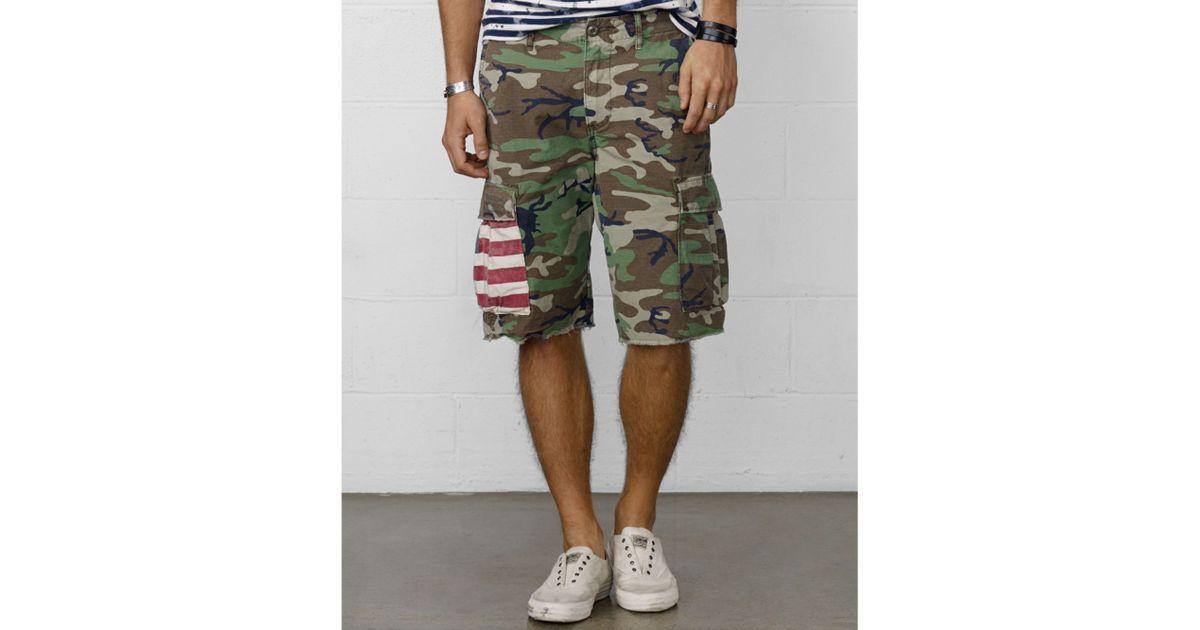 Lyst - Denim   Supply Ralph Lauren Cut-Off Military Camo Cargo Shorts in  Green for Men 896a401df84