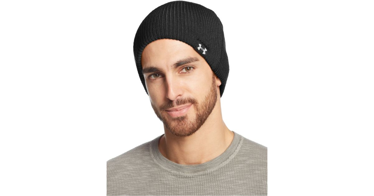 Lyst - Under Armour Ua Basic Knit Beanie in Black for Men 7b54c151ebb