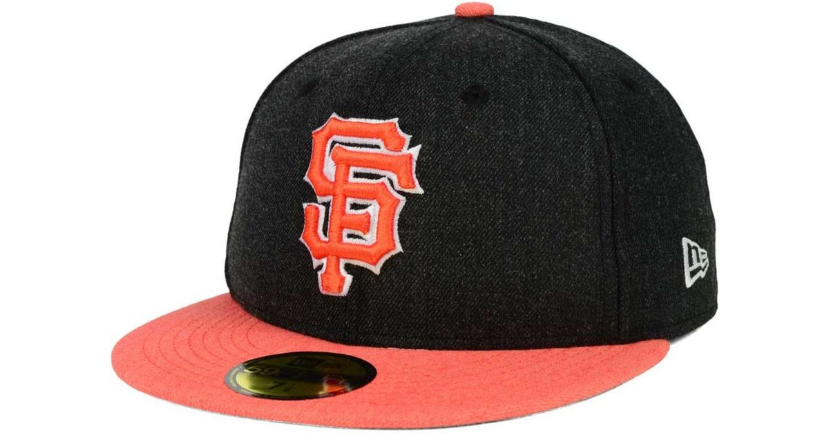 quality design 9eb86 f61d6 Lyst - Ktz San Francisco Giants Heather Action 59fifty Cap in Black
