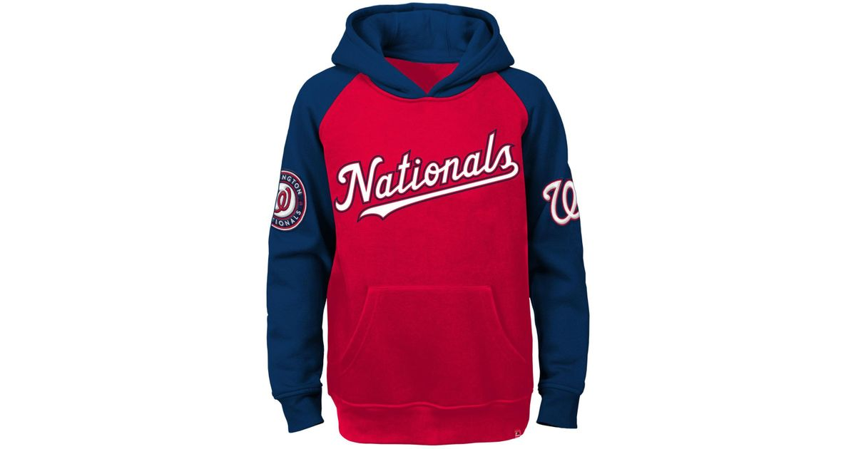 san francisco d9a48 fb6f3 Majestic - Red Boys' Washington Nationals Cunning Play Hoodie for Men - Lyst
