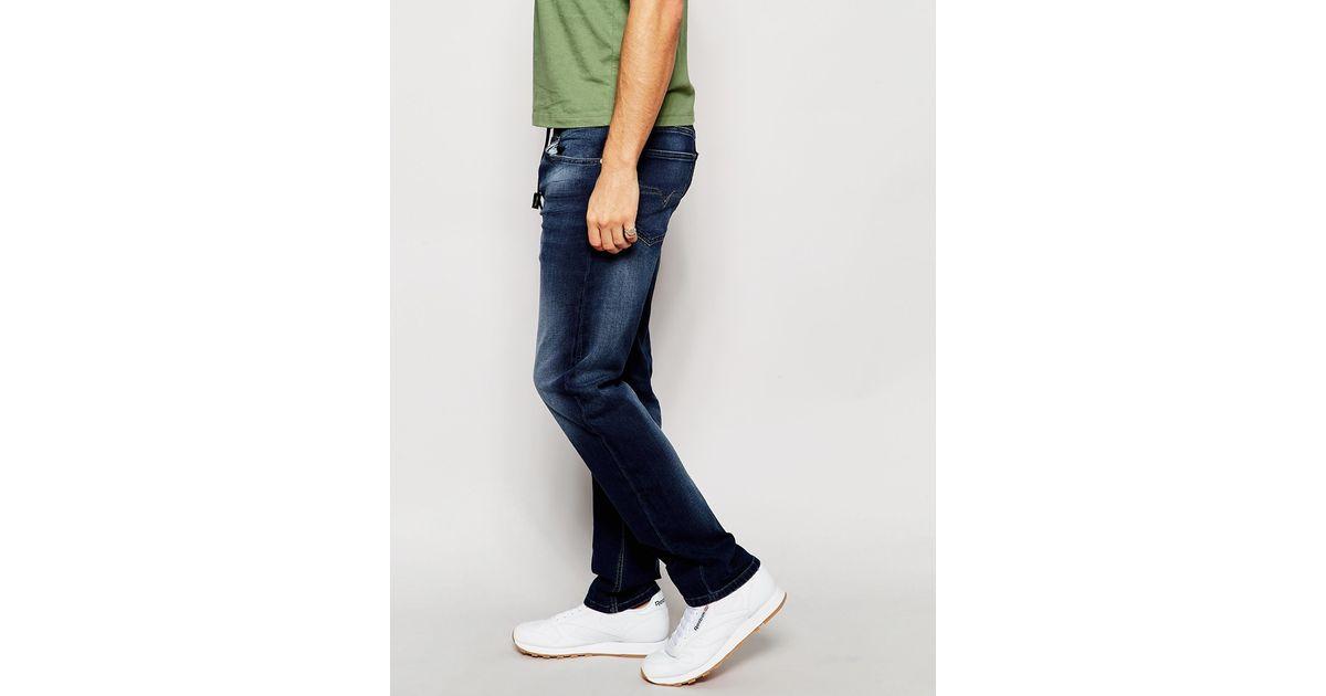 09f29106 Lyst - DIESEL Jog Jeans Sweat Pants Waykee 848k Straight Fit Dark Wash in  Blue for Men
