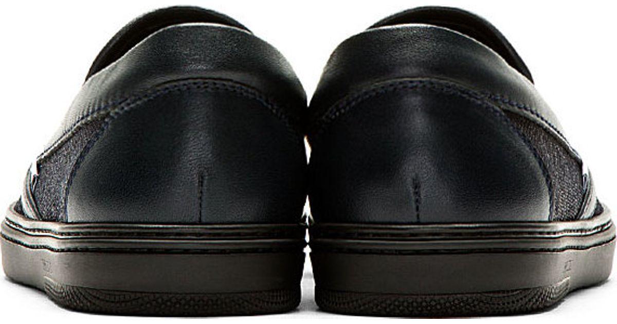 9a5866af188 Lyst - Jimmy Choo Navy Sparkle Suede Grove Slip on Shoes in Blue for Men