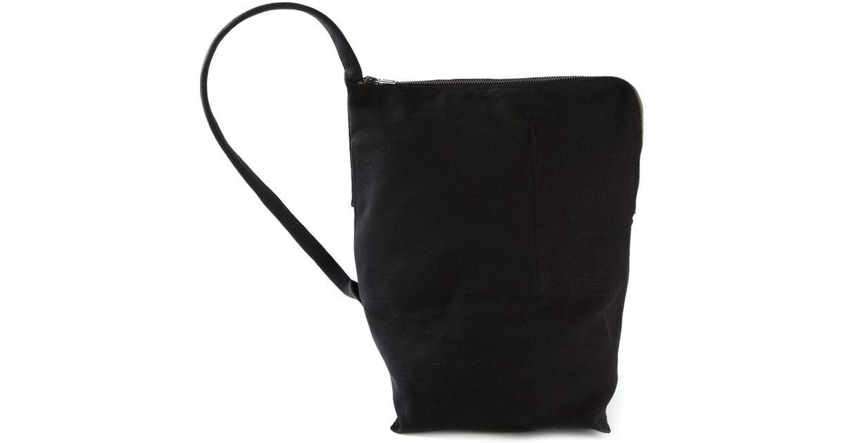 Lyst - DRKSHDW by Rick Owens Zipped Cotton Shoulder Bag in Black 2b632cd1a17a2