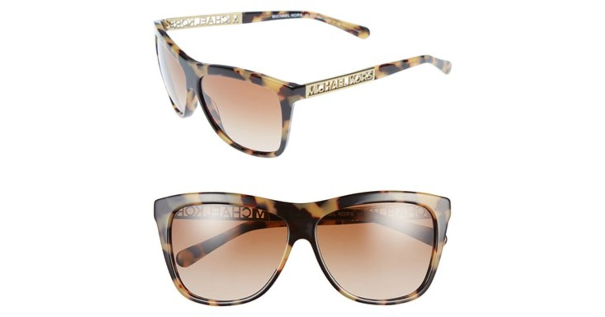 cb43cc4b47 Lyst - Michael Kors Square Sunglasses - Vintage Tortoise in Brown