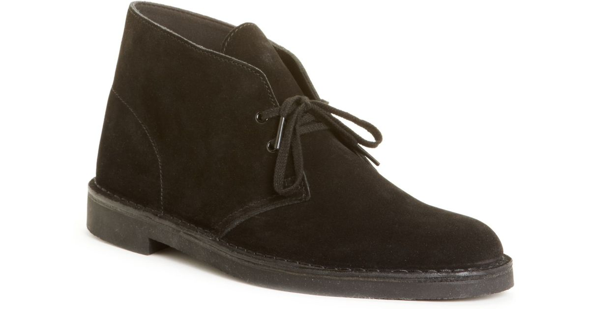 clarks s bushacre 2 chukka boots in black for