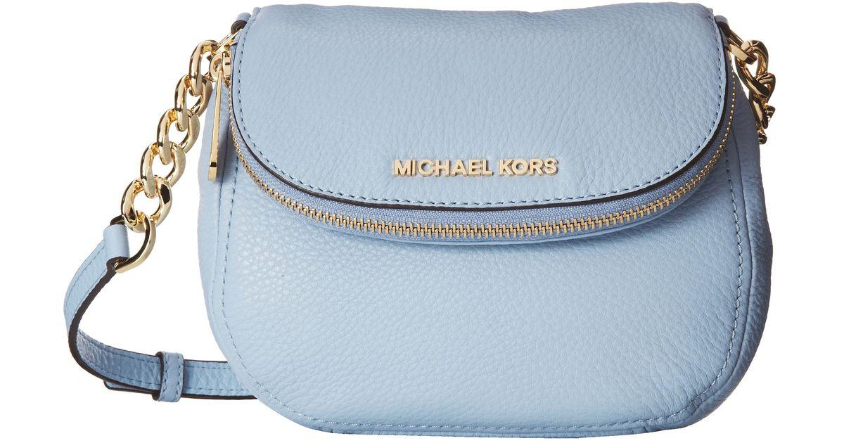 f4b62702032e Lyst - MICHAEL Michael Kors Bedford Flap Crossbody in Blue