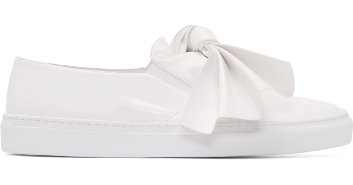 Cédric Charlier White Bow Slip-On Sneakers 1dKNe