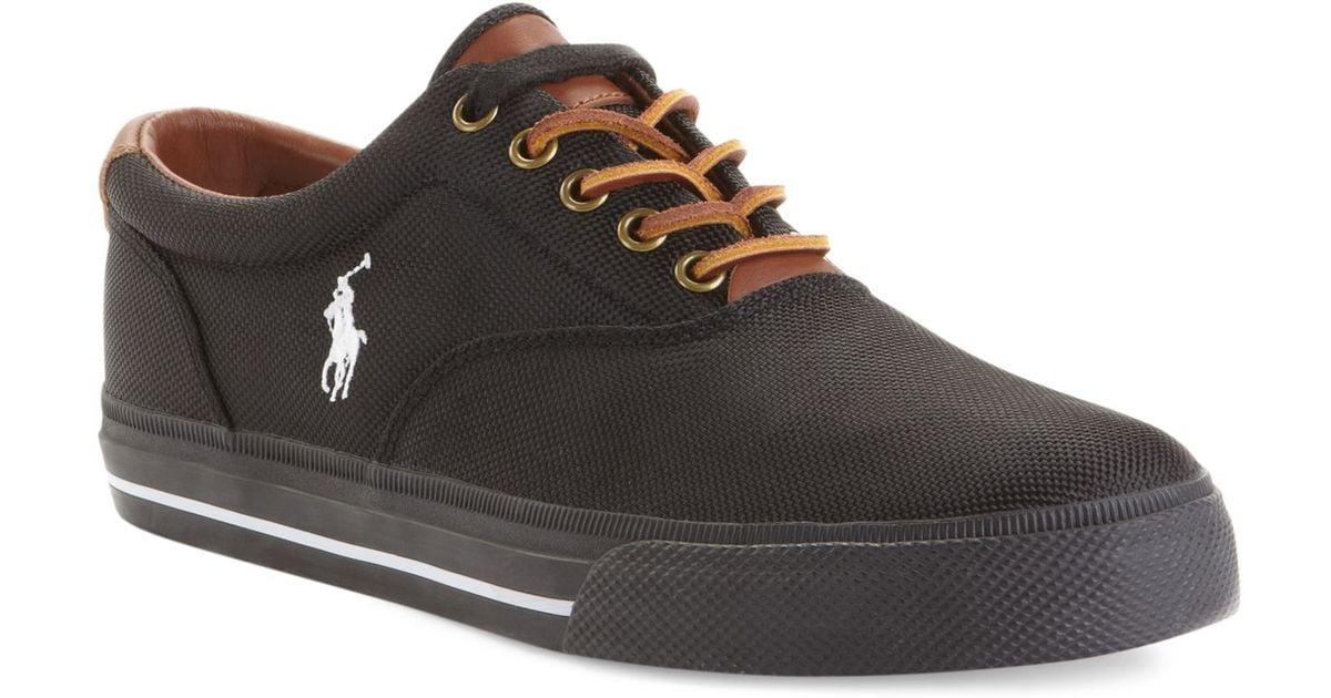 0b72275e8eb129 Lyst - Polo Ralph Lauren Vaughn Nylon Sneakers in Black for Men