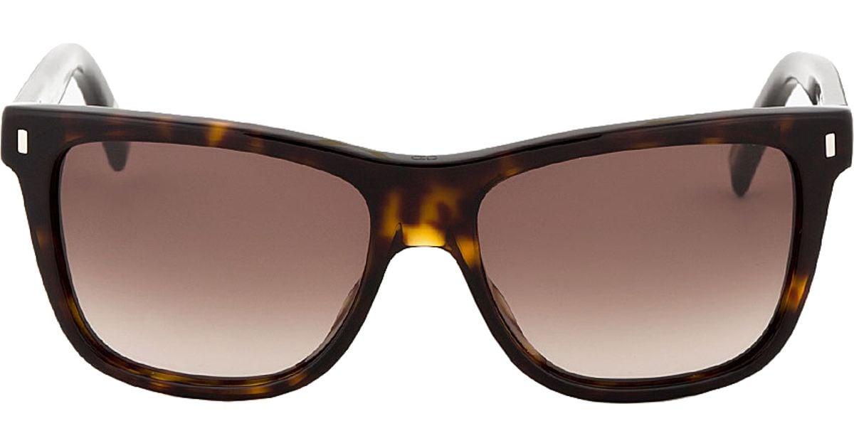 b703a0c65add0 Dior Homme Dark Tortoiseshell Black Tie 154 s Sunglasses in Brown for Men -  Lyst