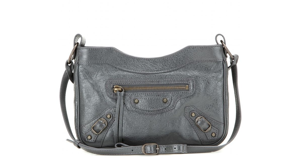 6d72a817a1 Lyst - Balenciaga Classic Hip Leather Shoulder Bag in Gray