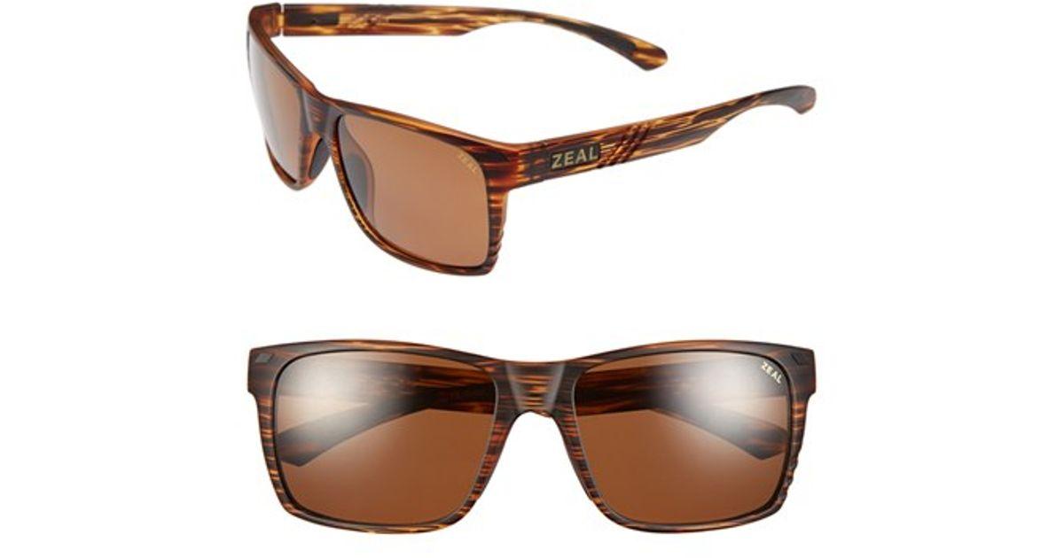 adb85f0054 Lyst - Zeal Optics  brewer  57mm Polarized Plant Based Sunglasses in Brown
