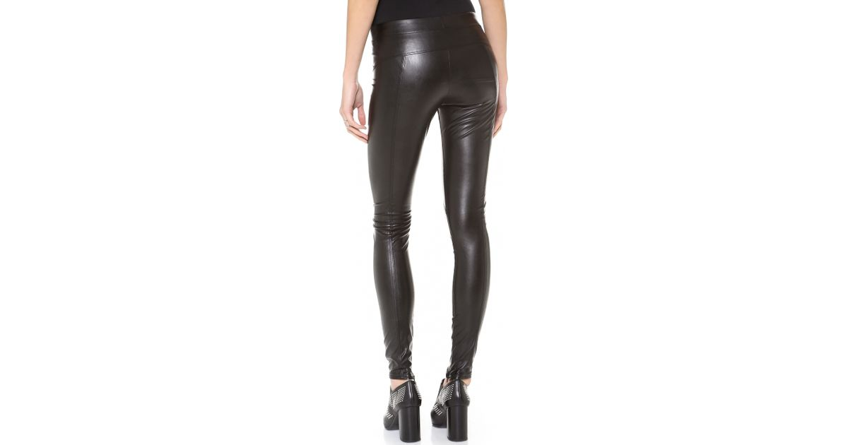f05deed2d595f David Lerner Faux Leather Leggings - Black in Black - Lyst