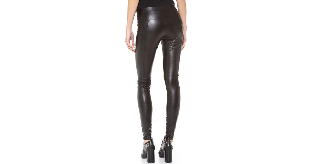 1dbd42872dc89 David Lerner Faux Leather Leggings - Black in Black - Lyst