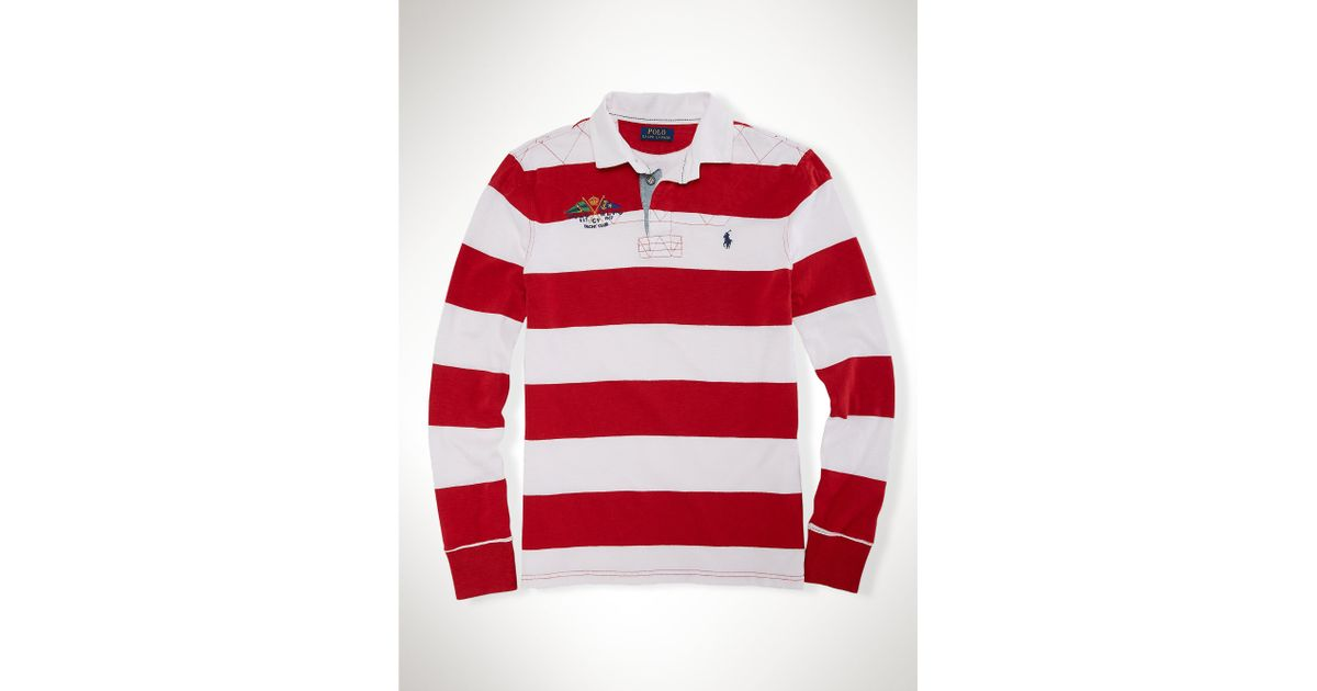 white and red striped polo shirt new ralph lauren trainers