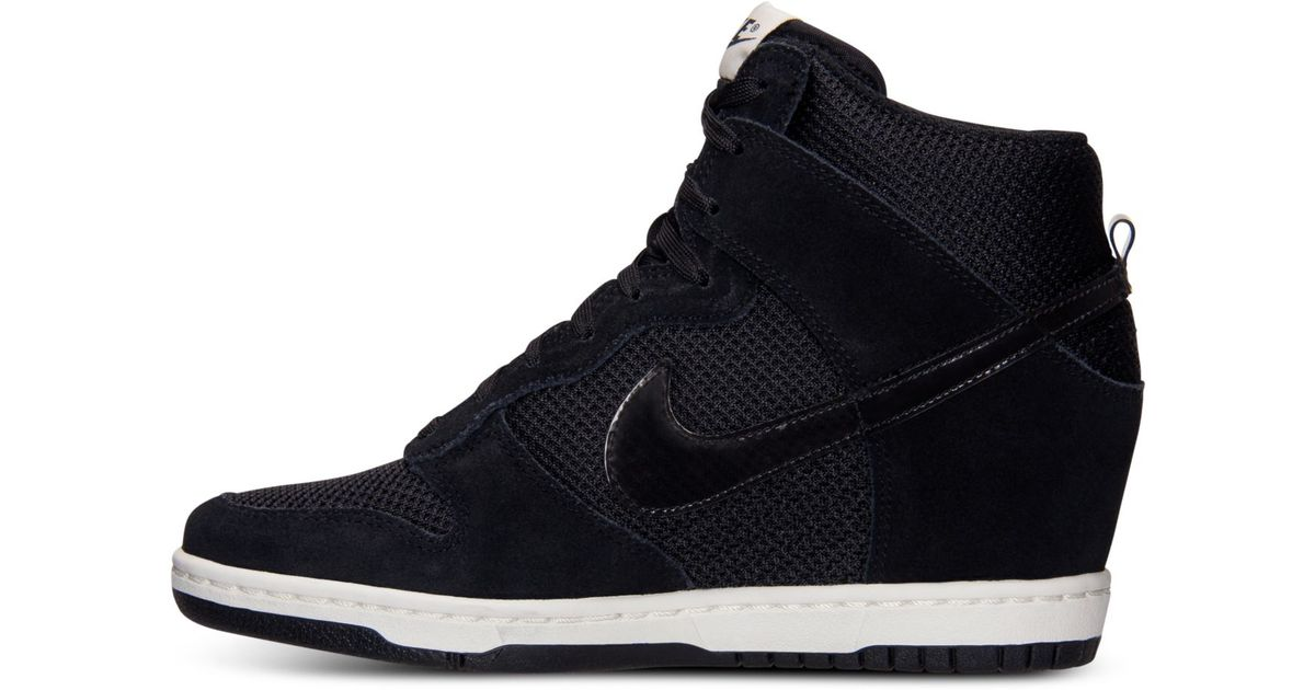 Lyst - Nike Women S Dunk Sky Hi Essential Casual Sneakers From Finish Line  in Black 98dfd28cb2c7