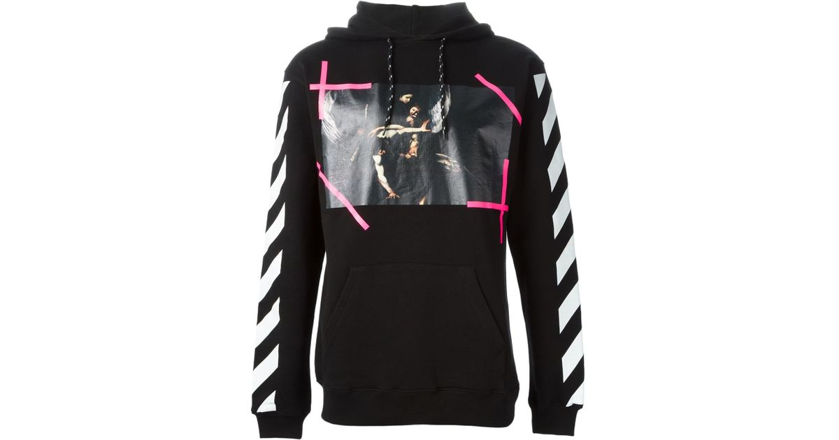 Off White C O Virgil Abloh New Caravaggio Hoodie In