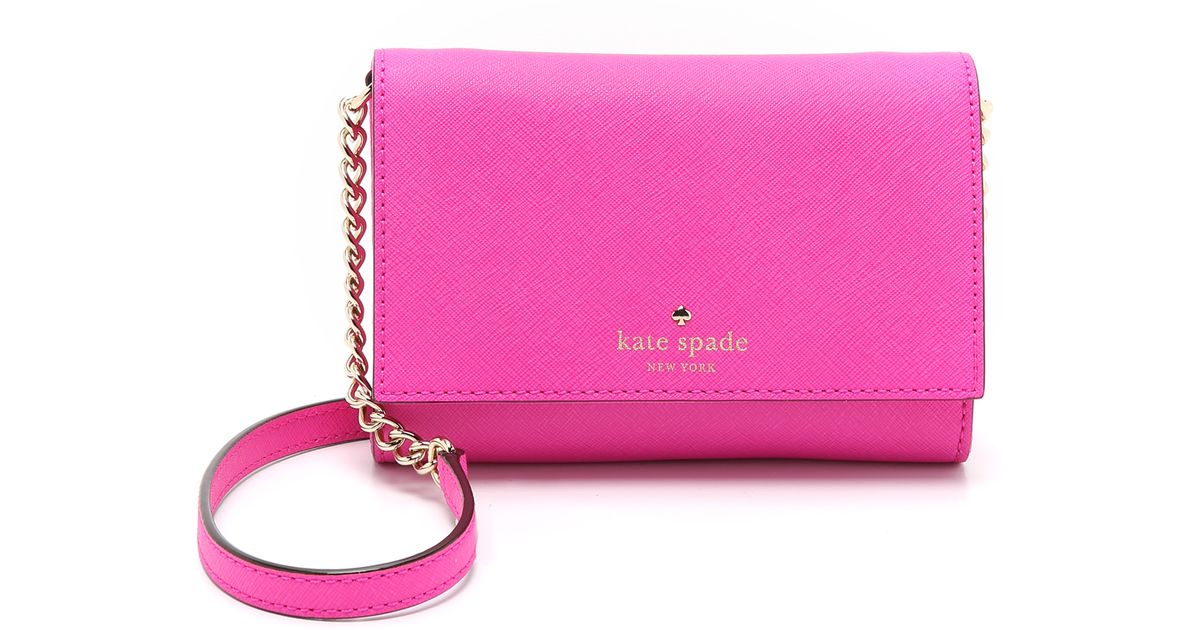c3a7a5e0032c Lyst Kate Spade I Cross Body Bag Mulled Wine In Pink. Kate Spade Leather  Cora Southport Avenue ...