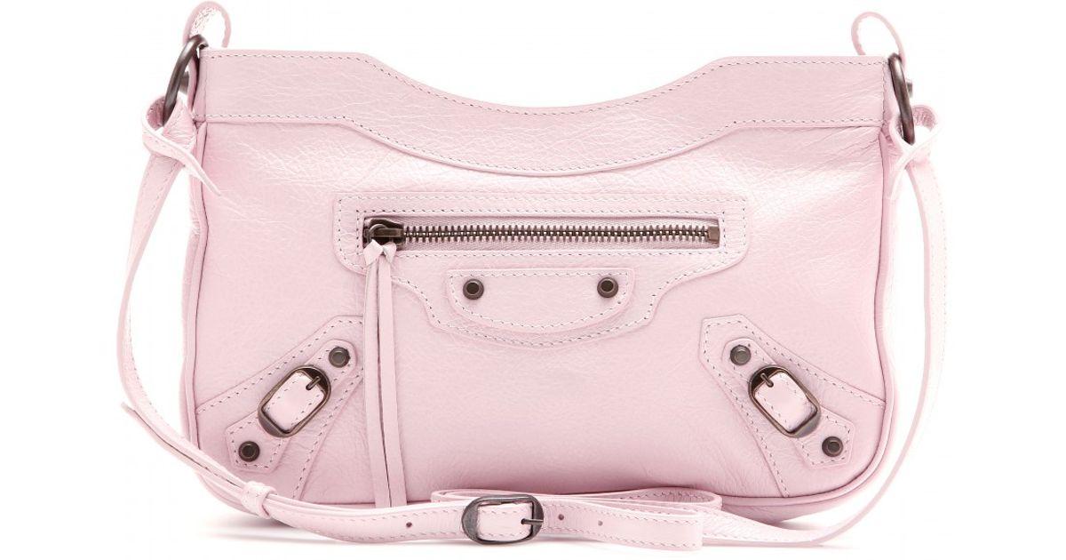 08e96e57b1 Balenciaga Classic Hip Leather Shoulder Bag in Pink - Lyst