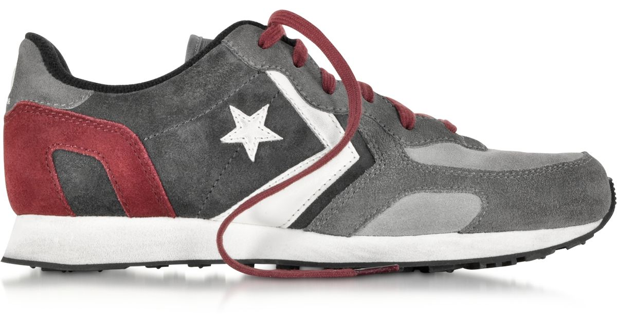 28eb15eb6110 Lyst - Converse Auckland Racer Ox Gray Dust And Charcoal Suede Sneaker in  Gray