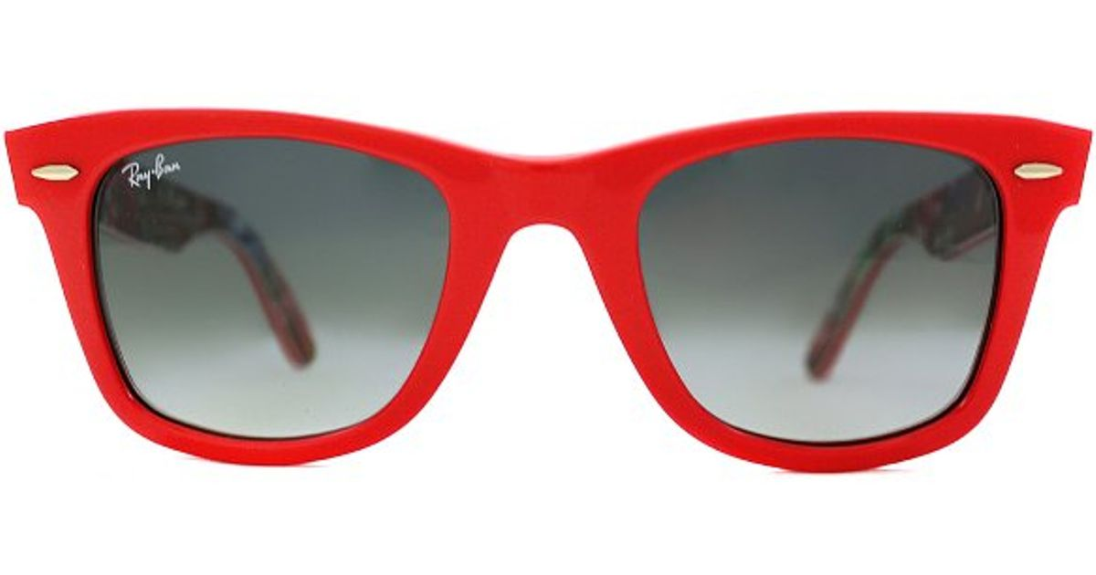 1caa2c25c ... spain lyst ray ban ray ban rb2140 original wayfarer 113971 coral red on  surfs up rare