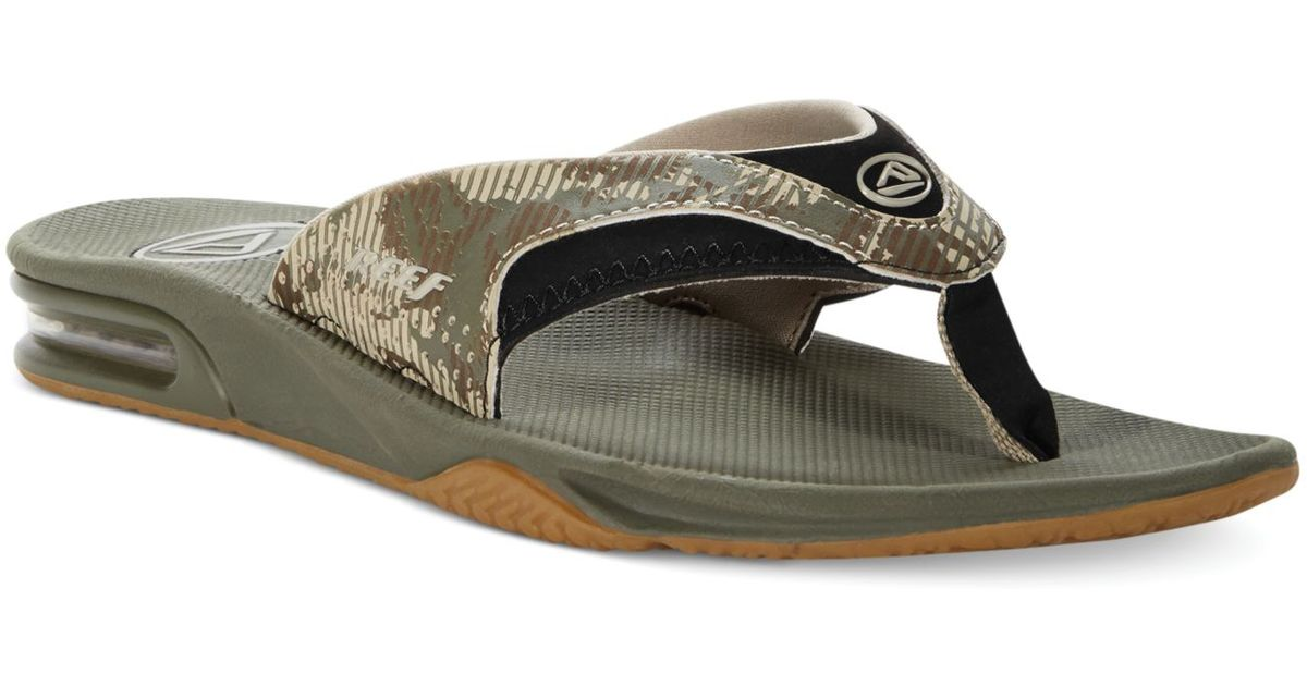 c57f67159c0393 Lyst - Reef Fanning Print Camo Thong Sandals in Green for Men
