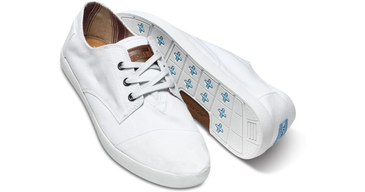 9832fb2fc92 Lyst - TOMS White Canvas Men s Paseo in White for Men