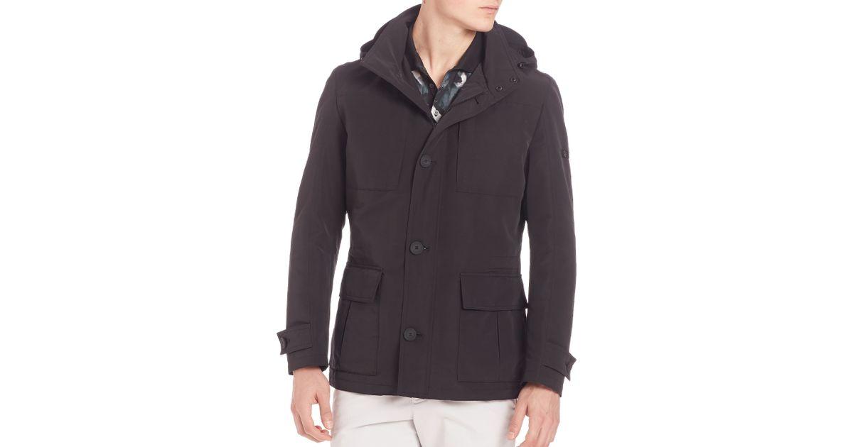 strellson slim fit field jacket in black for men lyst. Black Bedroom Furniture Sets. Home Design Ideas