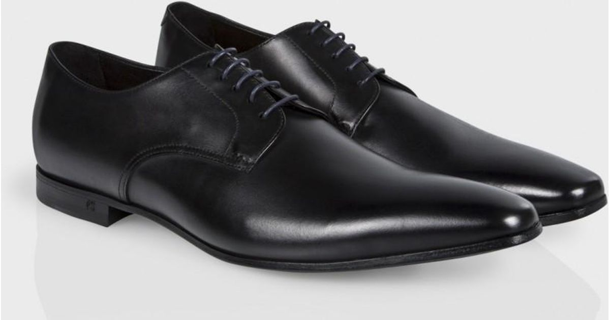 06900cef5ca Paul Smith Men's Black Leather 'taylors' Derby Shoes in Black for Men - Lyst