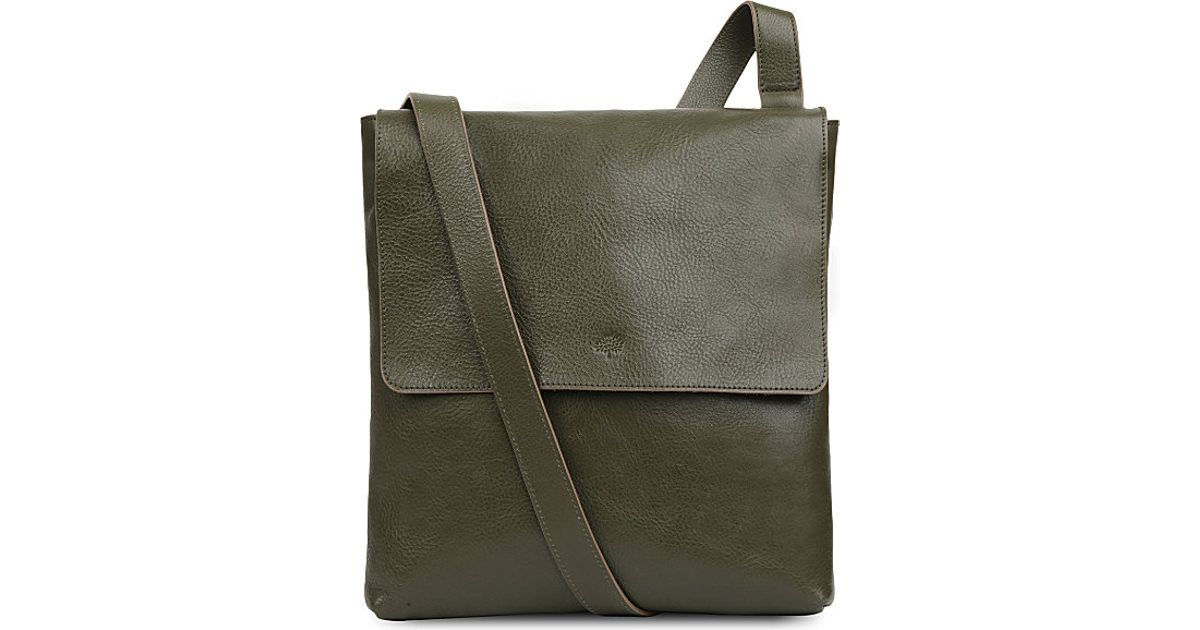 23ca53cf14 ... bags bb0df 8ac78 greece mulberry reporter leather cross body bag for  women in green lyst 6c2f6 b5f4f ...