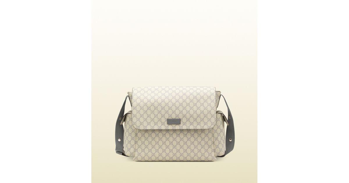 ebc315d03a5 Lyst - Gucci Gg Supreme Canvas Diaper Bag in Gray for Men