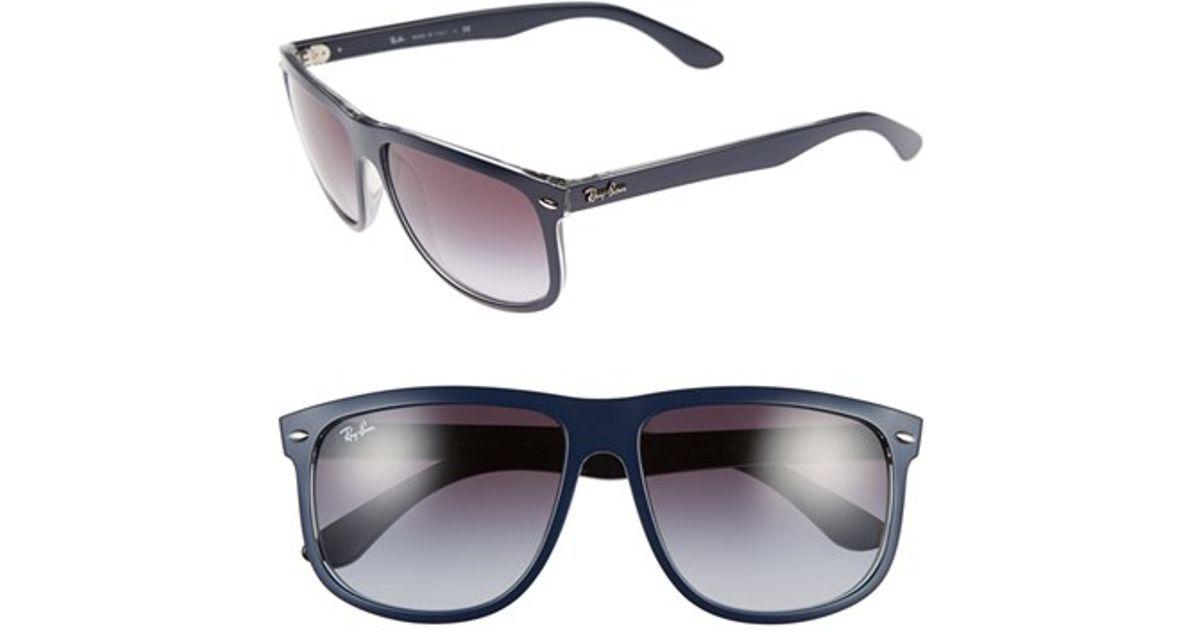 ray ban flat top boyfriend sunglasses  ray ban matte black on red dark grey flat top boyfriend 60mm sunglasses black product 0 465038160 normal.jpeg