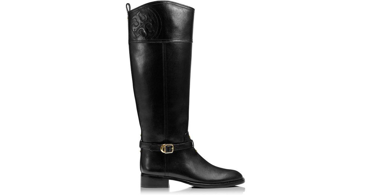 dc7cf741bb55 Lyst - Tory Burch Marlene Riding Boot in Black