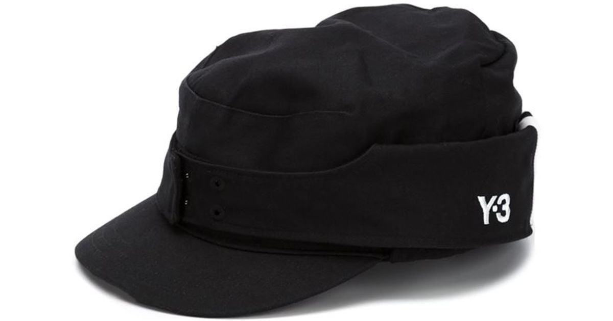 Lyst - Y-3 Military Cap in Black for Men 3b5c68b56db