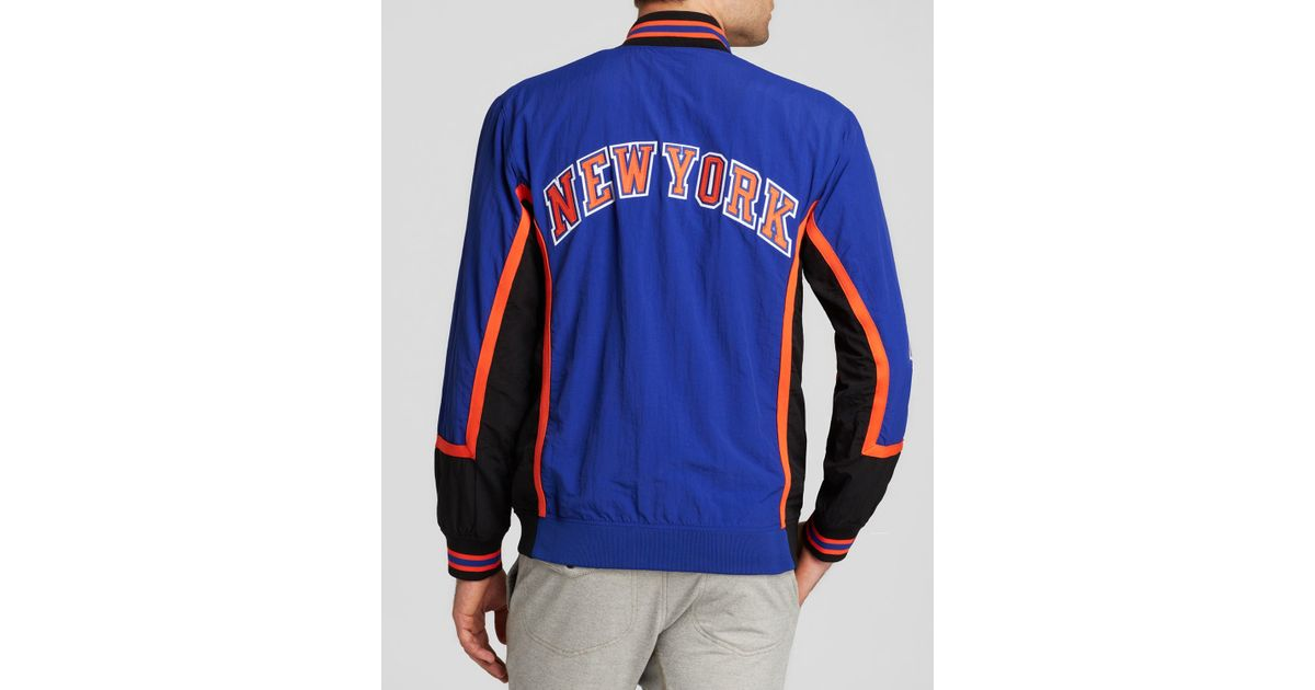Lyst - Mitchell & Ness 1996-97 New York Knicks Authentic Warm Up Jacket in  Blue for Men