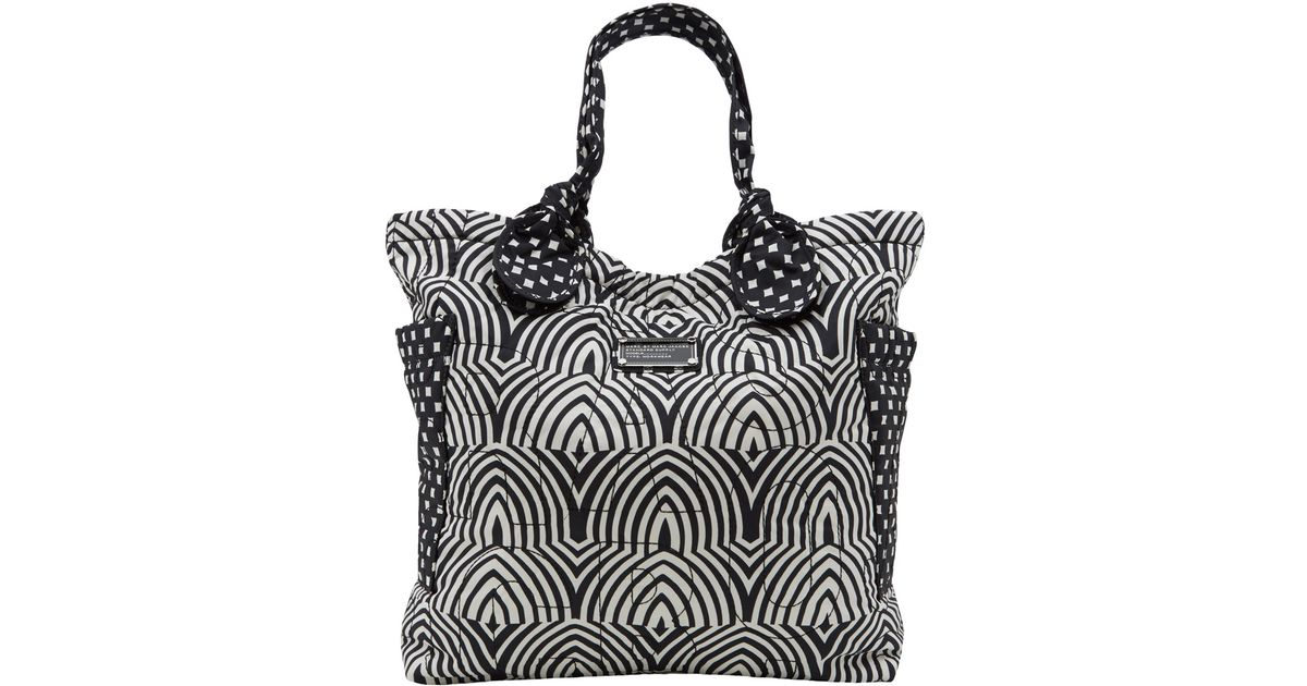 Lyst Marc By Jacobs Black And White Pretty Nylon Tote Bag In