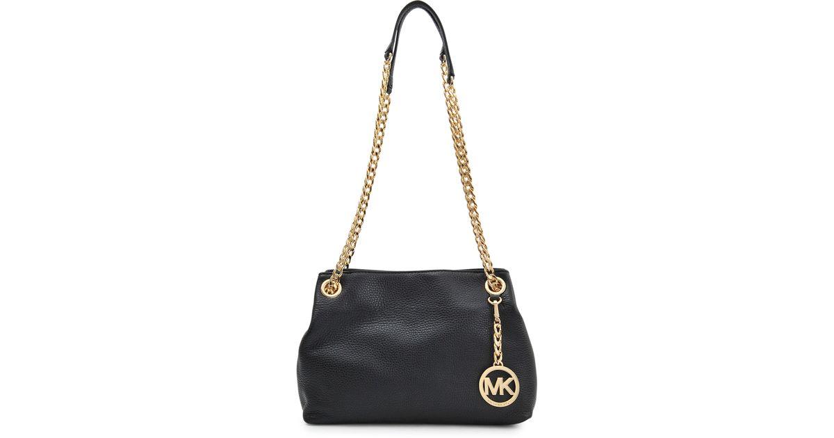 4759dea5ce Michael Kors Jet Set Chain Md Messenger Bag in Black - Lyst