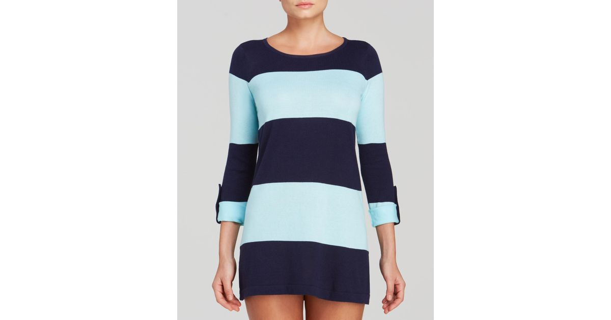 f2f855e1194 Tommy Bahama Beach Sweaters Bold Stripe Swim Cover Up in Blue - Lyst