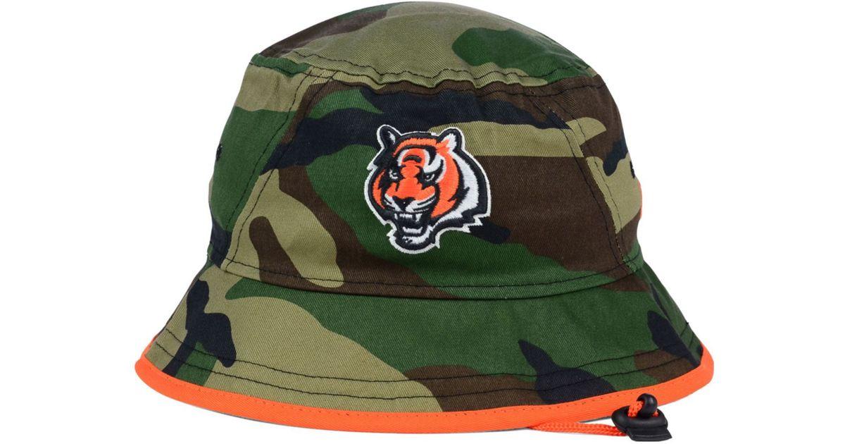 4f5c4386286f9 ... czech lyst ktz cincinnati bengals camo pop bucket hat in green for men  98075 1acea