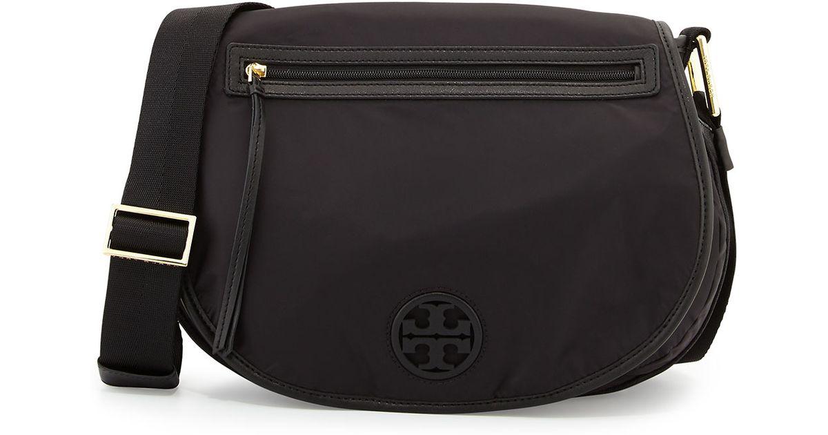 24507f1f181 Lyst - Tory Burch Nylon Messenger Bag in Black