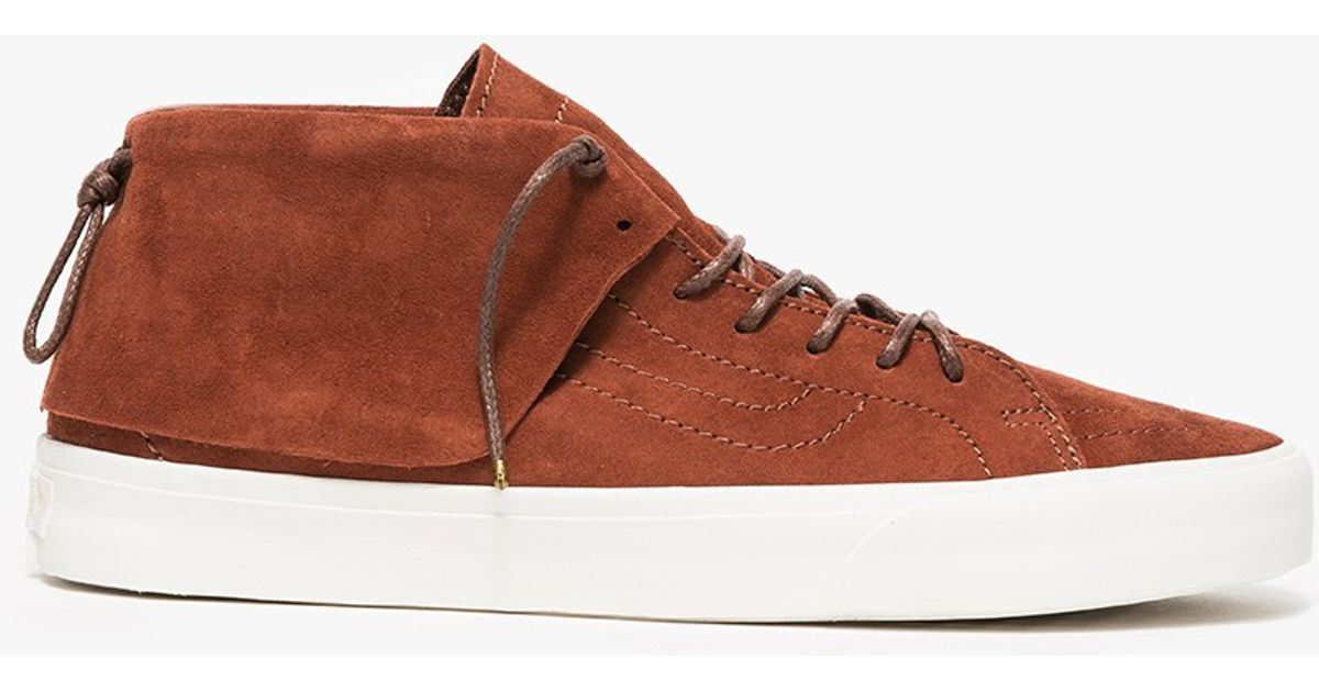 c94461835c Lyst - Vans Sk8 Mid Moc Ca Tortoise Shell in Orange for Men