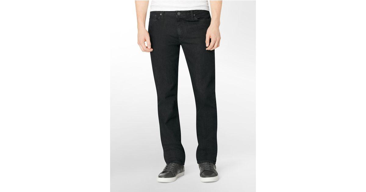 calvin klein jeans slim straight leg dark gloss wash jeans. Black Bedroom Furniture Sets. Home Design Ideas