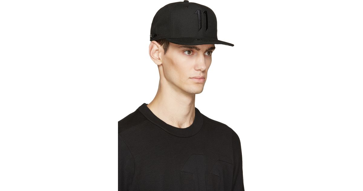 Lyst - Boris Bidjan Saberi 11 Black Logo Cap in Black for Men 5604c786d3a